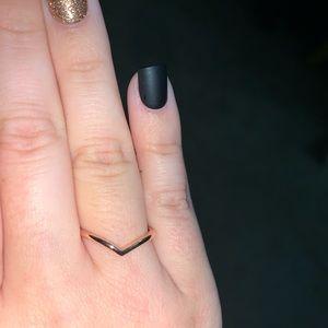 Pandora Rose Gold Polished Wishbone Ring